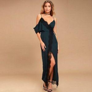 KEEPSAKE the Label Dresses - Keepsake Stop Me Lace Maxi dress Large